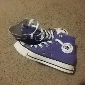 Purple high top Converse